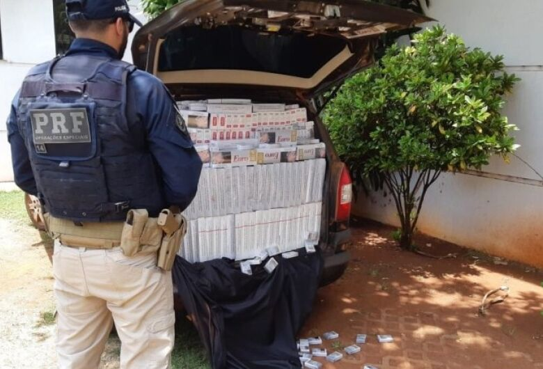 PRF apreende 50 mil pacotes de cigarros contrabandeados na BR 163