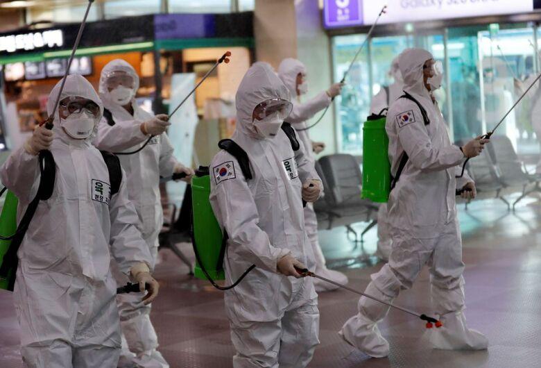 Coreia do sul tem 518 novos casos, com 6.200 infectados