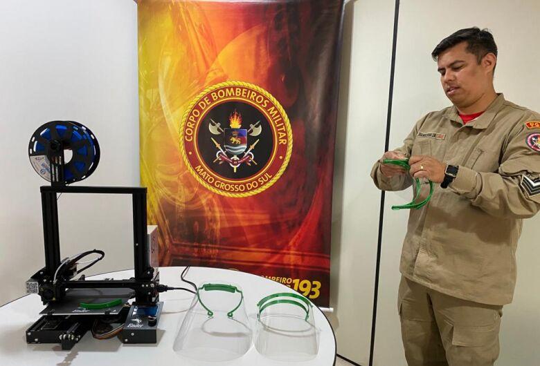 Bombeiros de MS produzem máscaras de proteção em parceria com pesquisadores
