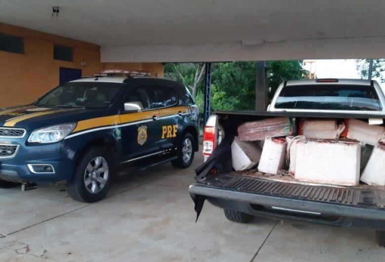 Veículo com registro de furto é apreendido com 980 kg de maconha