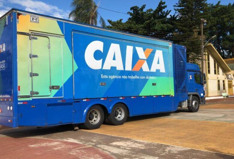 Itaporã recebe caminhão da Caixa Econômica Federal para atender demanda do auxílio emergencial