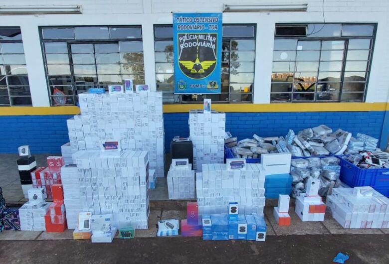 Homem é preso com quase R$ 2 milhões em eletrônicos contrabandeados