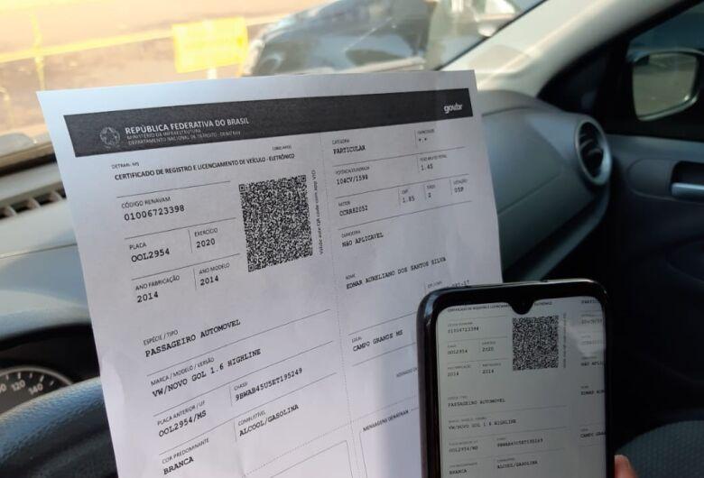 Condutores sul-mato-grossenses podem imprimir licenciamento sem sair de casa