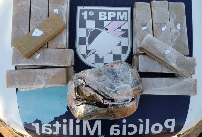 Polícia Militar apreende adolescente com 23 kg de maconha em duas bolsas de mão