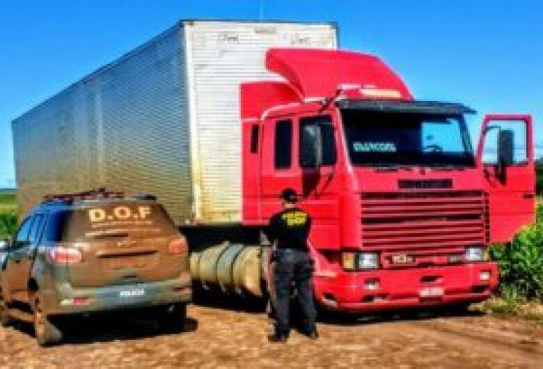 Assaltante a bordo de caminhão roubado é morto em troca de tiros com DOF