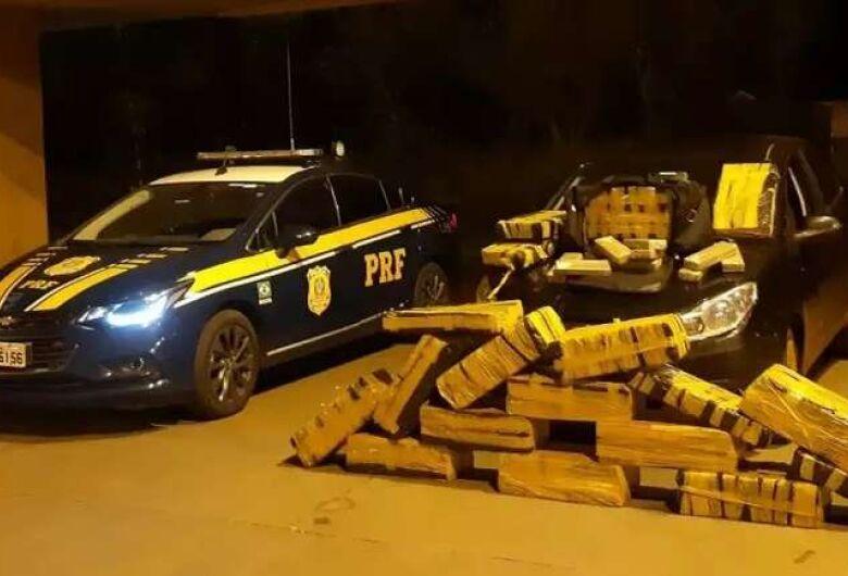 Traficante é preso com mais de 300 kg de maconha em Jaraguari
