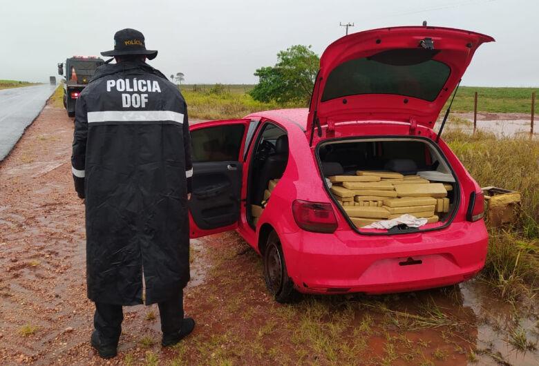 Veículo furtado em Brasília foi recuperado pelo DOF com mais de meia tonelada de maconha