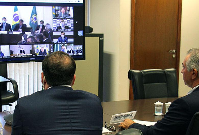 Porta-voz dos governadores, Azambuja cobra socorro imediato em videoconferência com Bolsonaro