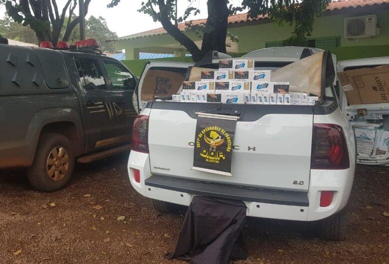 Veículo carregado com 2 mil cigarros contrabandeados do PY é apreendido pelo DOF