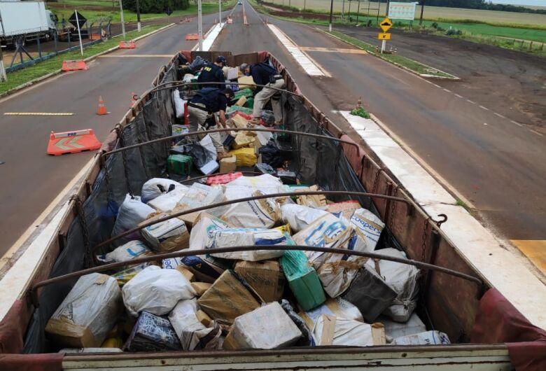 Caminhão com 11 toneladas de maconha é apreendido em Ponta Porã