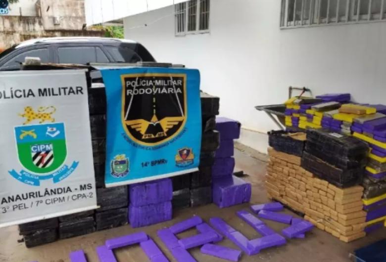 Polícia apreende 1,7 tonelada de maconha em caminhão de mudança