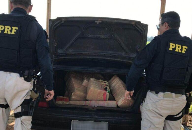 Polícia apreende mais de 200 kg de maconha na fronteira