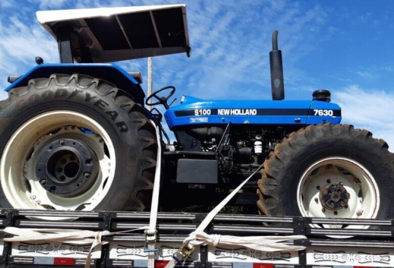 Trator furtado é recuperado na região pantaneira