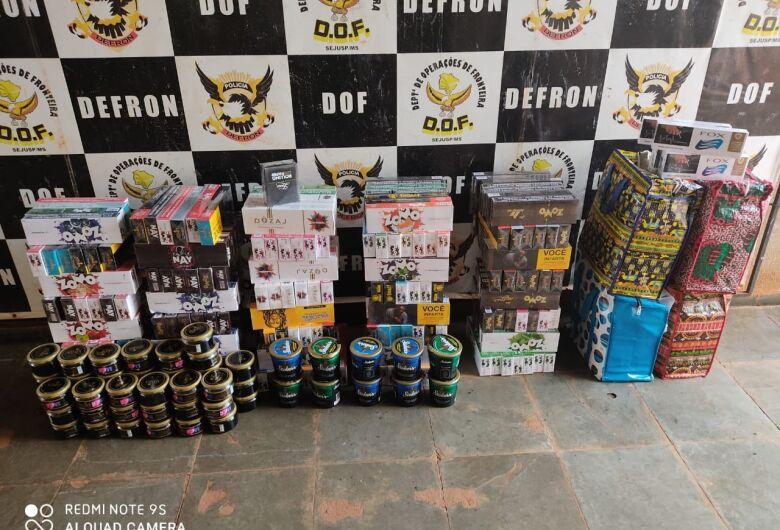 DOF apreende produtos de contrabando avaliados em R$ 150 mil