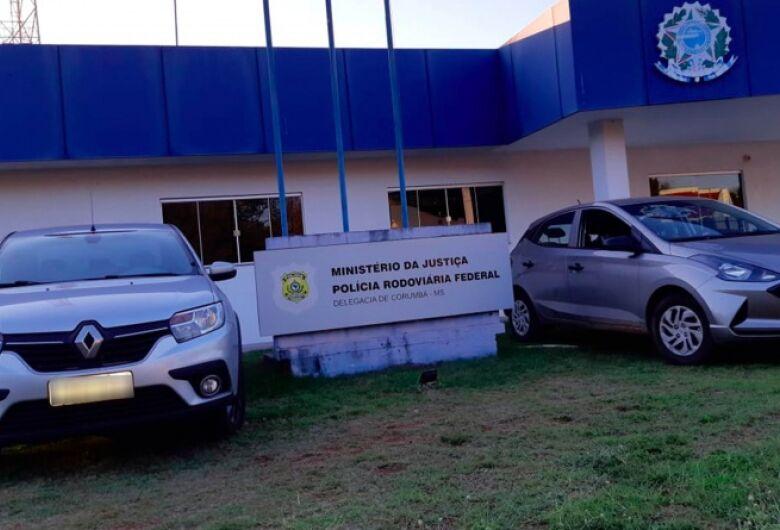Em menos de 24h, PRF recupera três veículos em Corumbá