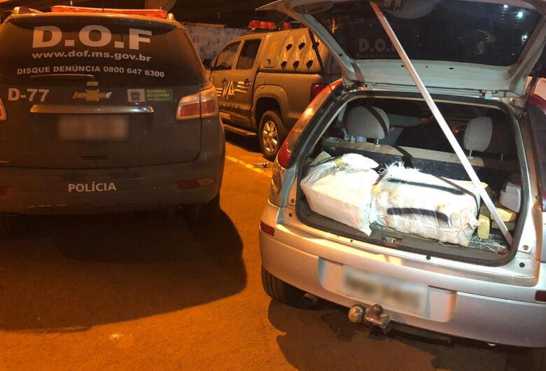 Veículo abandonado com 400 quilos de maconha é apreendido em Dourados