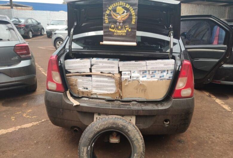 Veículo com cigarros contrabandeados do Paraguai é apreendido pelo DOF