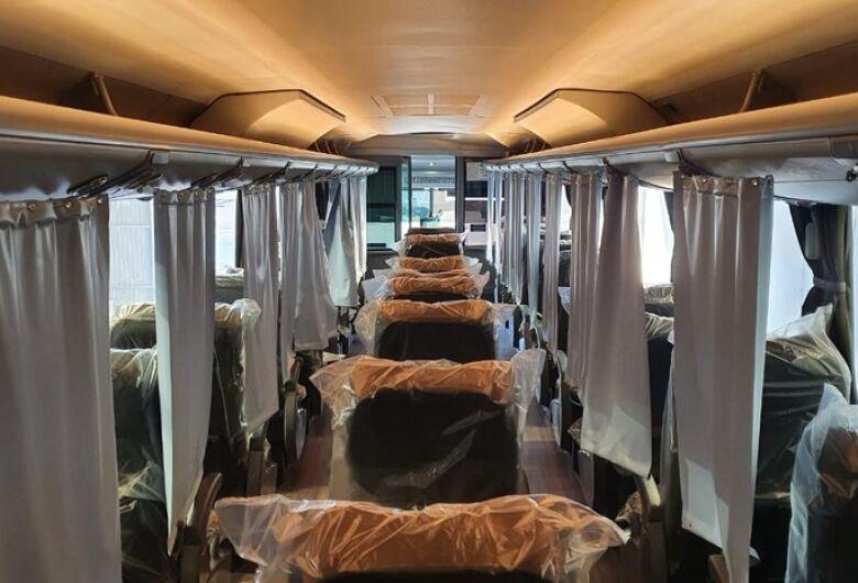 Ônibus adaptados para prevenir coronavírus entram em operação no RS