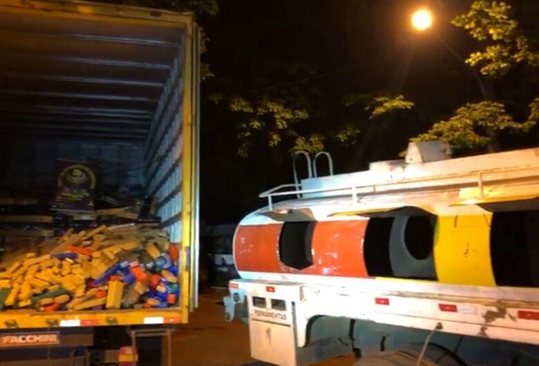 DOF apreende caminhão com 9,6 toneladas de maconha na MS-156