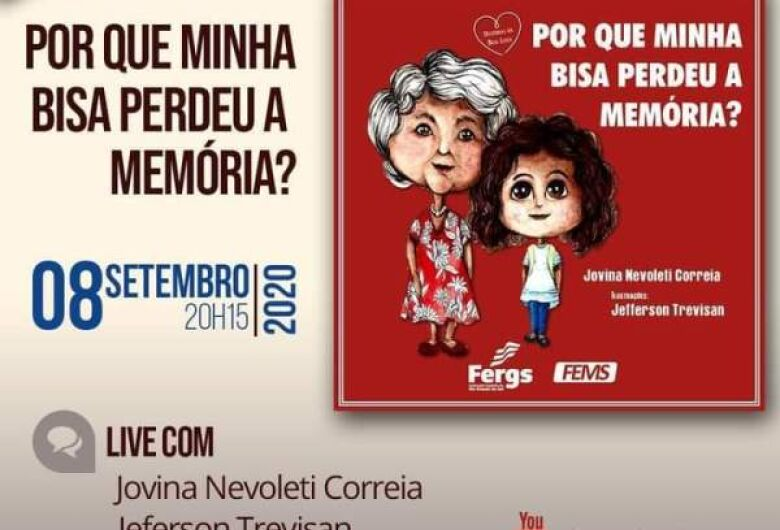 Escritora Jovina Nevoleti lança livro infantil através de live nesta terça