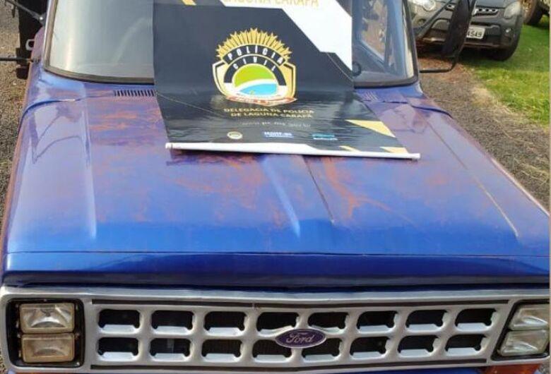 Veículo roubado em Dourados por 'falso frete' é recuperado em Laguna Caarapã
