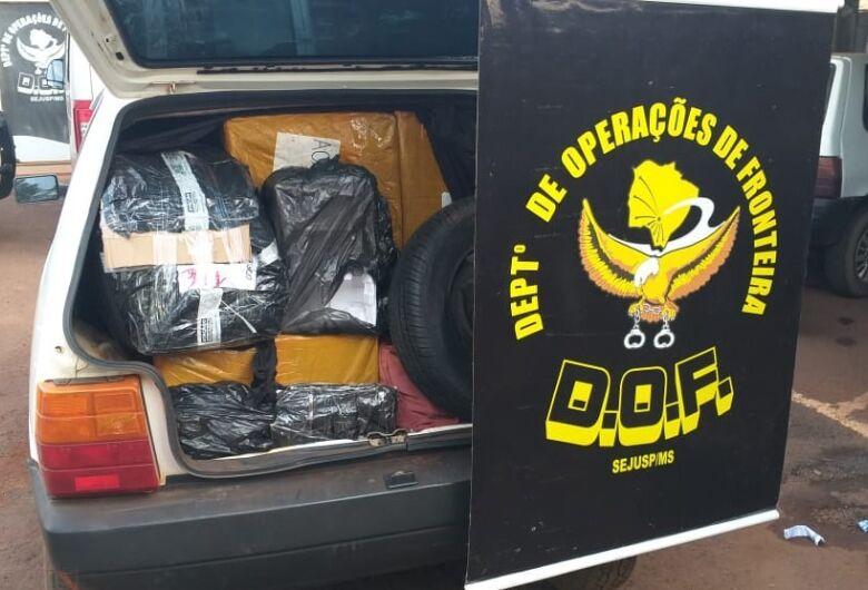 Dois veículos com mercadorias ilegais são apreendidos pelo DOF na MS-156