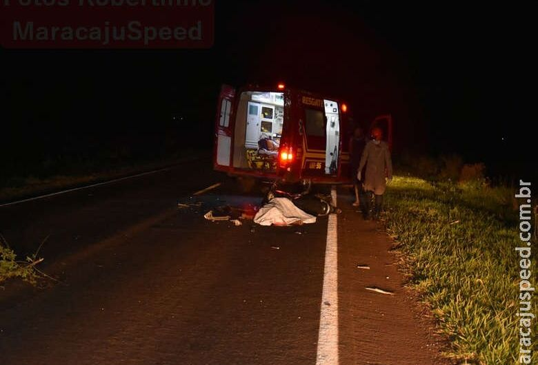 Acidente entre moto e carreta deixa uma vítima fatal