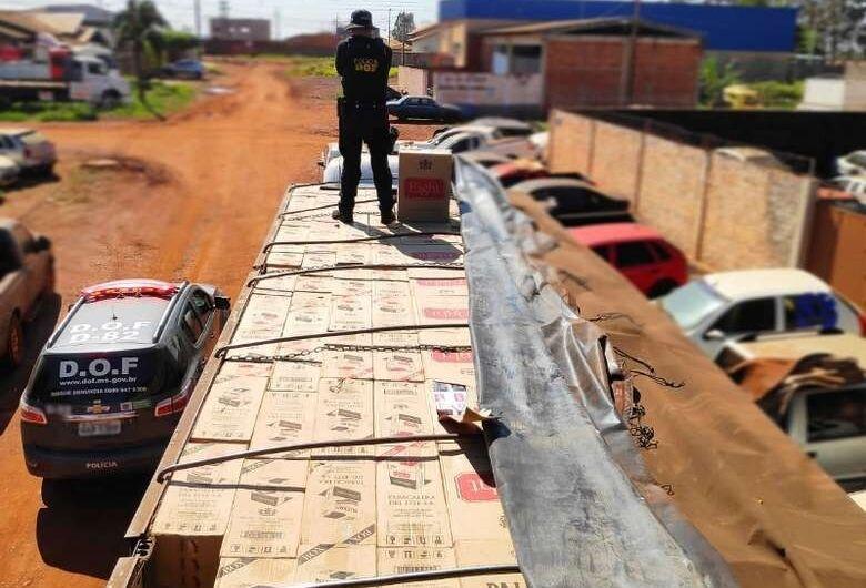 DOF apreende mais de 40 mil pacotes de cigarros contrabendeados