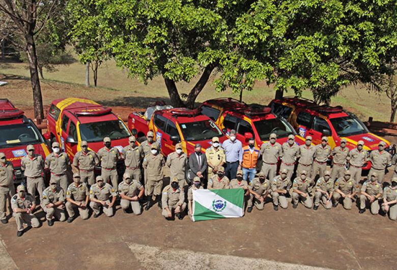 Bombeiros do PR chegam a MS para combater fogo no Pantanal e Cerrado