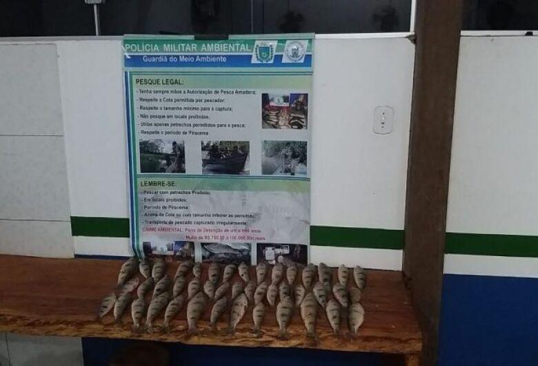 Pescador é preso com 44 exemplares de peixes em MS