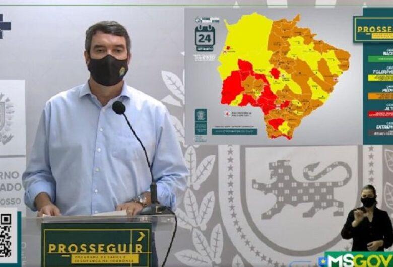 Governo de Mato Grosso do Sul atualiza bandeiras dos municípios