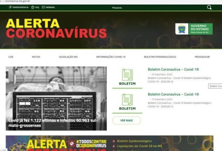 MS se mantém em 1º lugar no ranking de transparência nacional sobre coronavírus