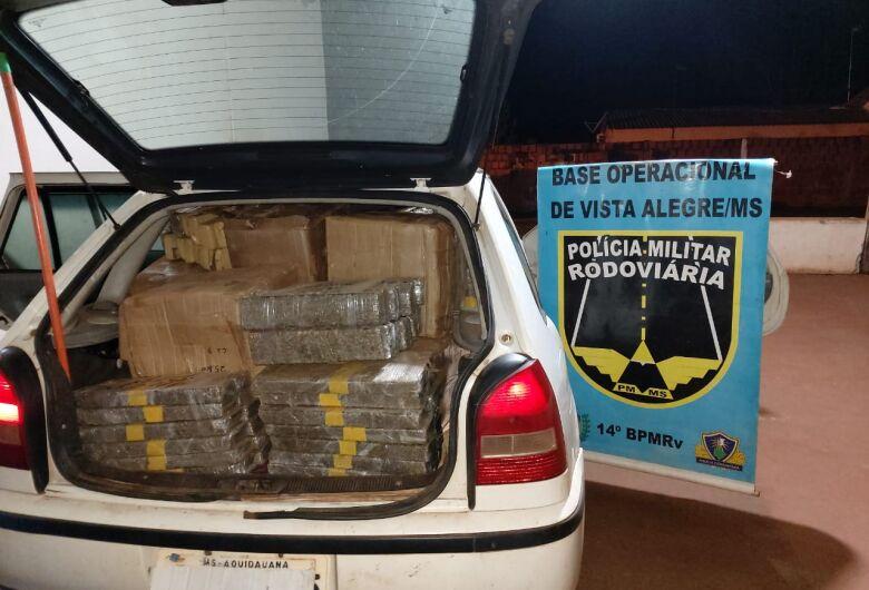 Polícia Militar Rodoviária apreende mais de meia tonelada de maconha após acompanhamento tático
