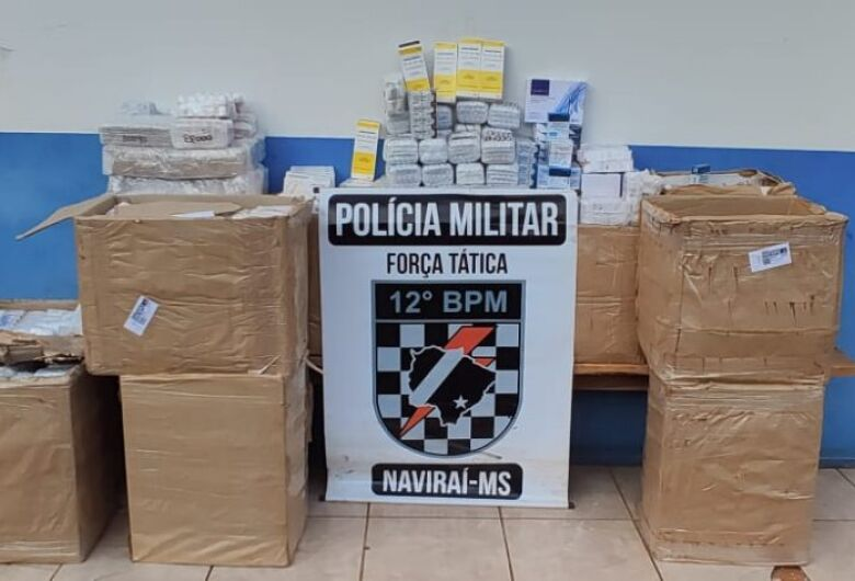 Polícia Militar apreende medicamentos contrabandeados