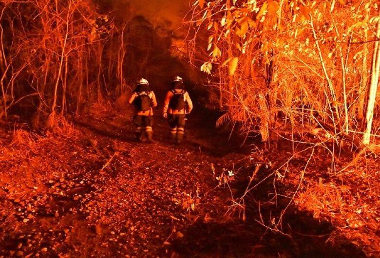 Bombeiros superam cansaço, calor e dificuldades de acesso para controlar incêndios no Amolar