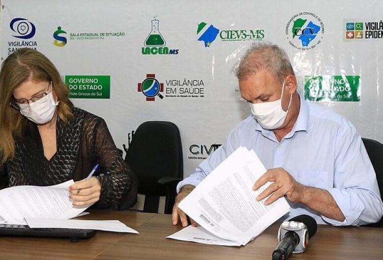 Secretaria de Estado de Saúde assina convênio para testes de segunda vacina contra Covid-19 em Mato Grosso do Sul
