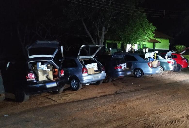 Polícia apreende combio de veículos com produtos do Paraguai avaliados em R$ 230 mil