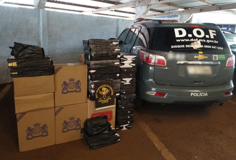 DOF apreende mais de 900 pacotes de cigarro contrabandeado