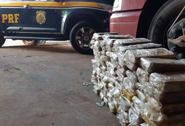 Quase 130 kg de cocaína é apreendido pela PRF em Bataguassu