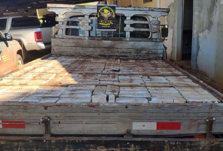 Mais de 400 kg de maconha é apreendido pelo DOF em Dourados