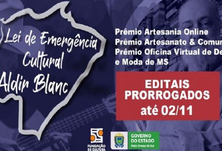 Fundação de Cultura prorroga inscrições de três editais até segunda-feira