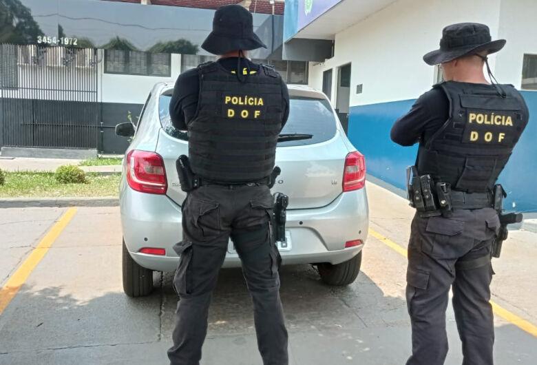 Veículo furtado em São Paulo é recuperado pelo DOF