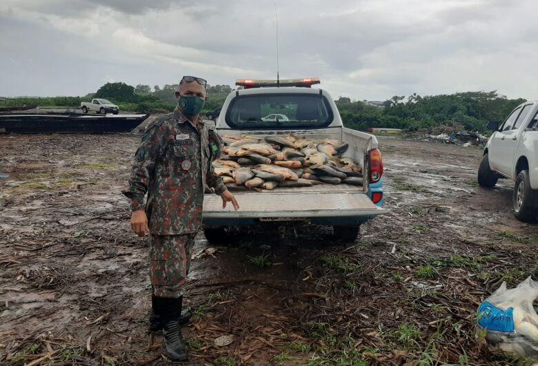 PMA de Corumbá prende e autua em R$ 35 mil cinco pescadores utilizando petrechos ilegais