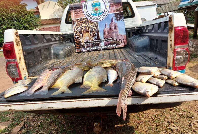 PMA de Aquidauana prende e autua em flagrante homem pescando em local proibido