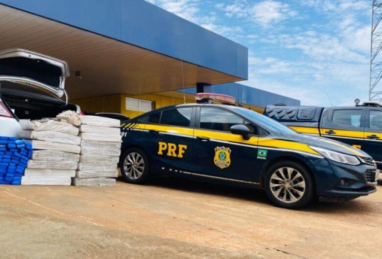 PRF apreende 363 Kg de maconha em Ponta Porã