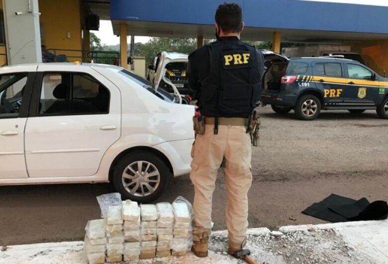 Depois de abordar batedor, PRF prende casal com cocaína avalida em R$ 1,7 milhão