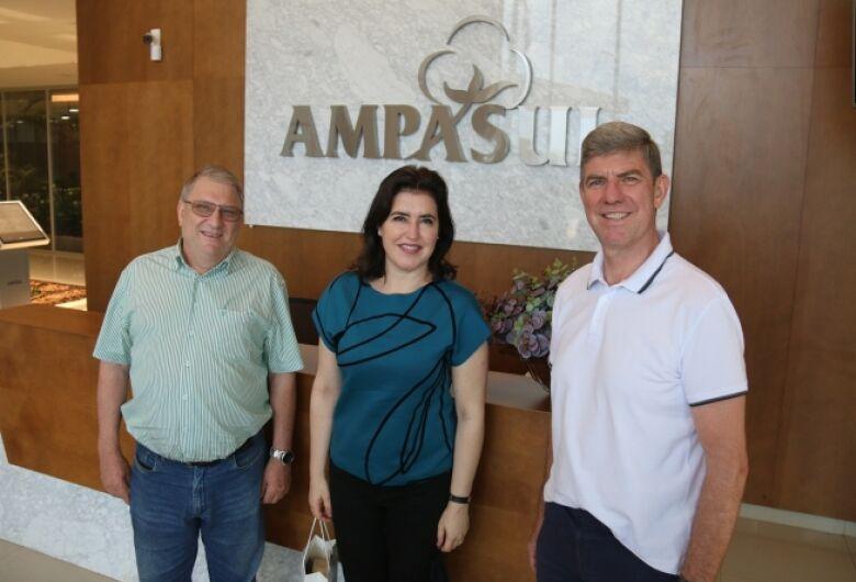 Senadora Simone Tebet visita Ampasul e se diz confiante na continuação do Convênio ICMS 100