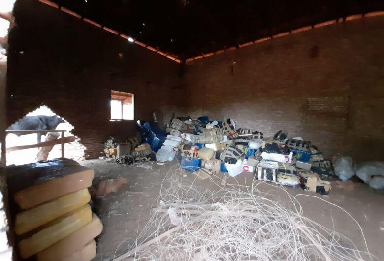 Mais de 9 toneladas de maconha é apreendida em Aparecida do Taboado
