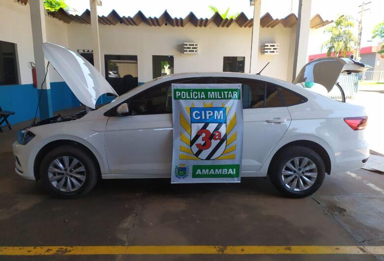 Polícia Militar prende 4 homens que tentavam levar veículo roubado para o Paraguai