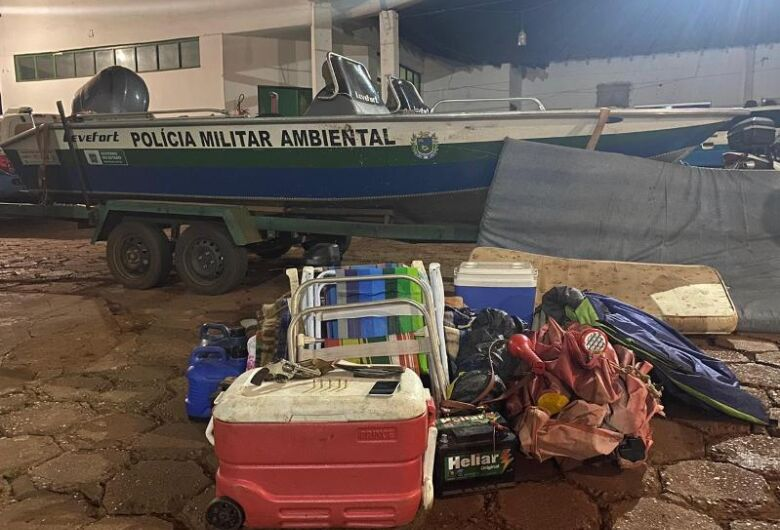 Fugitivo de acampamento ilegal de pesca é localizado e autuado pela PMA